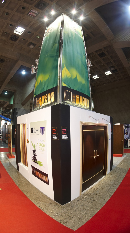 Kiosque conçu et réalisé par Thibault Communication Marketing pour Portes Lambton/Lambton Doors